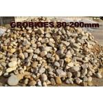 Kies 80 - 200 mm - gewaschen - lose - ca. 0,55m³ - ca.1t