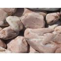 Gabionen - Füllmaterial -  BIG BAG - 0,5m³ - ca.750kg - Baskisch rot - rund - Kies