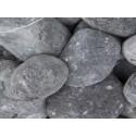 Gabionen - Füllmaterial -  BIG BAG - 0,5m³ - ca.750kg - Nero Ebano - Kies - rund dunkel