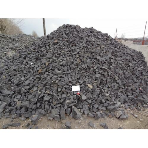 Gabionen - Füllmaterial - GRANIT - schwarz / grau- lose