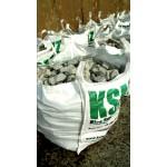 GABION - ZAUNFÜLLM. > Granitstein - unregelmäßig getrommelt - weiss/schwarz/gelb Anteilen - BIG BAG - ca. 850 kg Inhalt