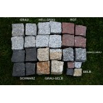 Granitpflaster 8 x 11 cm - Granit - rot - lose - ca. 4,5m² - ca.1t