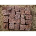 Granitpflaster 4 x 6 cm - Granit - rot - lose - ca. 8,5m² - ca.1t