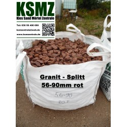 Splitt 63 - 125 mm - Porphyr - schwarz / rot - BIG BAG - 0,5m³ - ca.850kg