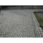 Granitpflaster 8 x 11 cm - Granit - weiss / schwarz / grau - BIG BAG - ca. 4,5m² - ca.1t
