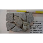 Gabionen - Füllmaterial - Mondstein - aus Muschelkalk - getrommelt - BIG BAG - ca. 850 kg -  Inhalt