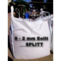 Splitt 0 - 2 mm - Eolit - schwarz / grau - BIG BAG - 0,5m³ - ca.850kg