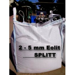 Splitt 2 - 5 mm  - Eolit - schwarz / grau - BIG BAG - 0,5m³ - ca.850kg