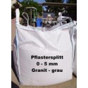 Splitt 0 - 5 mm - Granit - grau - BIG BAG - 0,5m³ - ca.850kg