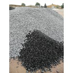 Splitt 16 - 32 mm - BASALT - schwarz / grau - lose - 0,55m³ - ca.1t