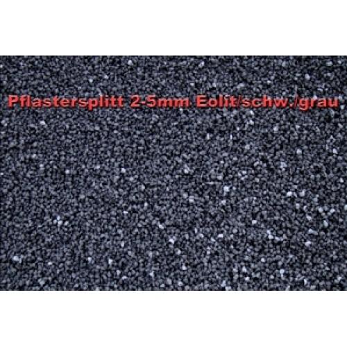 splitt 2 5 mm eolit schwarz grau lose 0 55m art. Black Bedroom Furniture Sets. Home Design Ideas