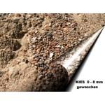Kies 0 - 8 mm - gewaschen - lose - ca. 0,55m³ - ca.1t