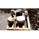 Beschreibung >>> Kiesstein gebrochen/ Unikate/Palette ca.-158 kg